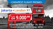 Promo Flight Jakarta to London